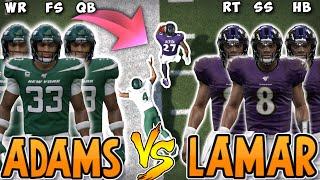 Team of LAMAR JACKSON'S vs JAMAL ADAMS!! (Tournament Round 2)