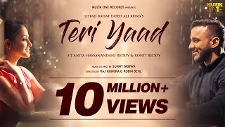 Teri Yaad Official Song Audio Ustad Rahat Fateh Ali Khan Ft Anita Rohit Reddy