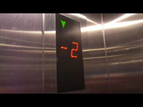 Asian-style Otis GEN2 MRL Traction Elevator at Gagarinsky Shopping Center, Donskoy in Moscow, Russia