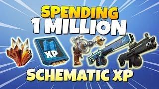 Spending 1 MILLION Schematic XP! LVL 130 ZAP ZAPP   Fornite Save The World