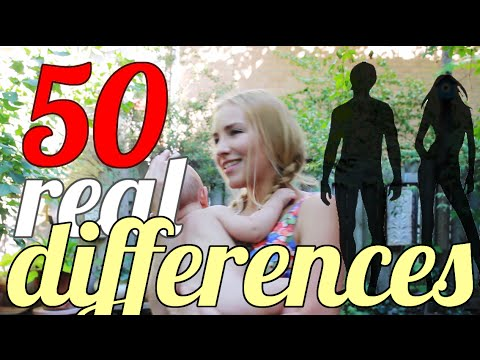 50 REAL Differences Between Men & Women