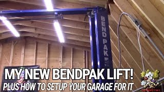 My New Bendpak lift & How to setup your garage for one!!