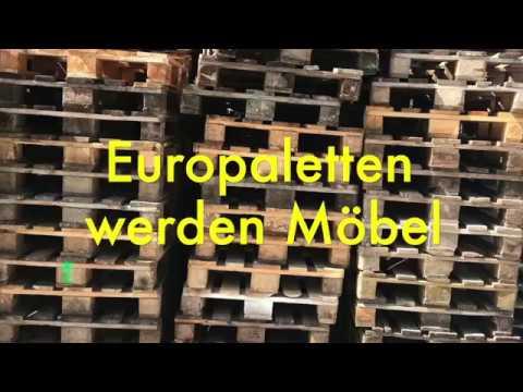 Europaletten werden Möbel