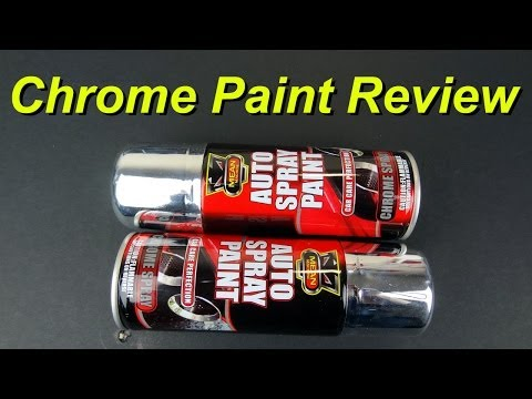 XRobots - Chrome Paint in a Rattle Can Product Review. found in the pound shop / dollar store