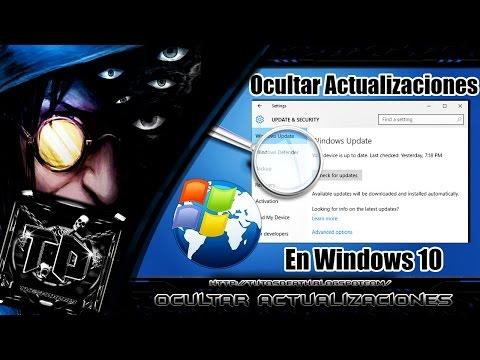 Como Ocultar las Actualizaciones de Windows 10