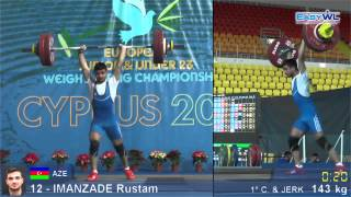 Rustem İmanzade. Junior EWC 2014. 143 kg clean and jerk