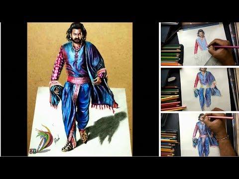 Bahubali 2 | Hyper Realistic Drawing Of Bahubali (Time Lapse) - 3D Art 4 You