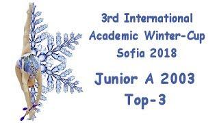 Academic Winter Cup Sofia 2018 - Junior A2003 - Top 3