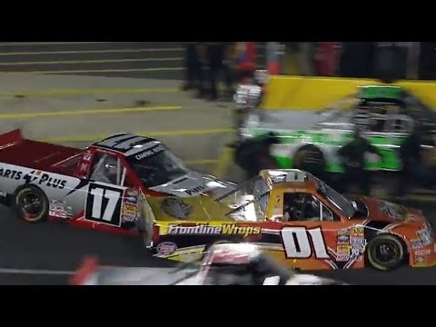 CRASH on pit road!!