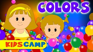 Color Song | Nursery Rhymes | Popular Nursery Rhymes by KidsCamp