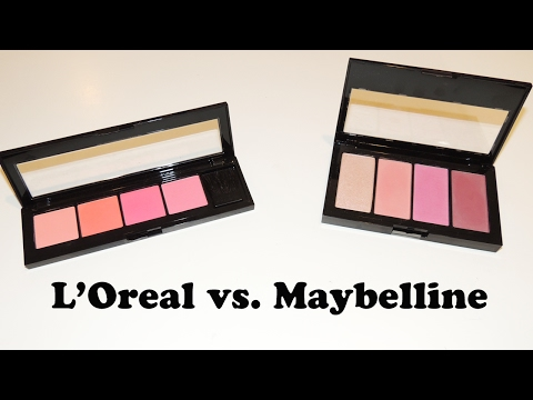 Maybelline Master Blush Kit   L'Oreal Infallible Paints Blush Palette   Review