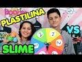 RULETA DE PLASTILINA vs SLIME - Mystery wheel of play doh VS slime challenge