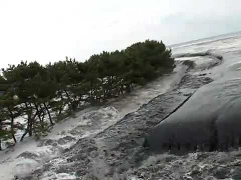 Incredible footage of  Incoming Tsunami Japan.