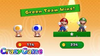 New Super Mario Bros U w/ Wii Coin Battle #2 (4 Player)