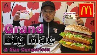 McDonald's Grand Big Mac UK Review & Size Comparison