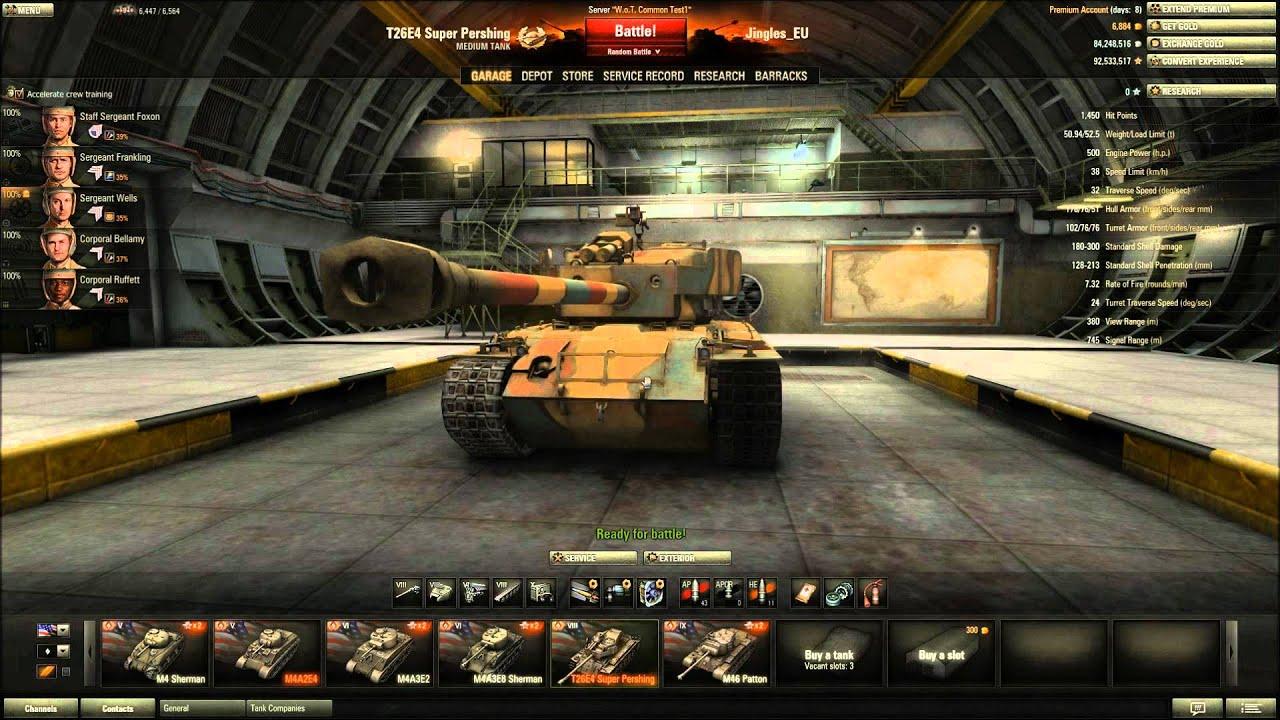 Super Zoom Camera >> World of Tanks - T26E4 Super Pershing Tier 8 Medium Premium Tank - YouTube