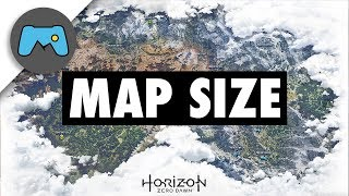 What is Horizon Zero Dawn's Map Size?