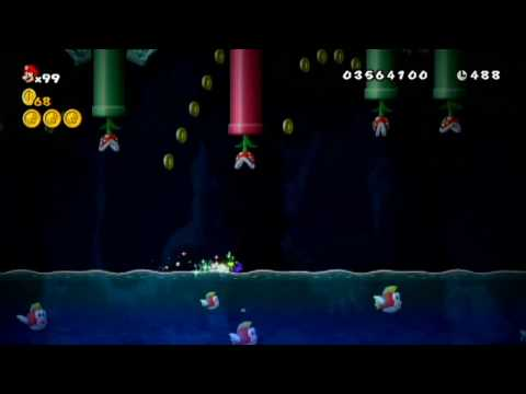 New Super Mario Bros. Wii - 100% U: The Mini-Mushroom Dash