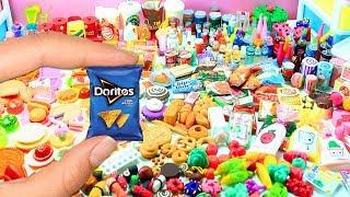 1.000 Handgemaakte DIY miniaturen pop voedingsmiddelen - frisdrank, gebak, pizza, snoepjes, enz.