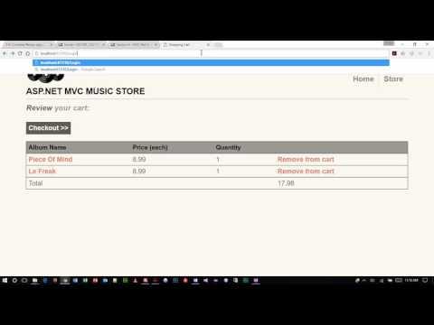 ASP.NET - MVC Music Store Part 1
