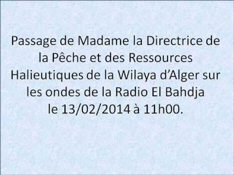 Passage de Madame la Directrice de la Pêche- wilaya d'Alger- Radio El Bahdja  le 13.02.2014  à 11h00