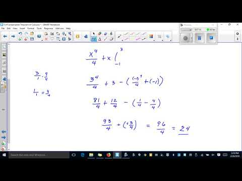 Calc 5 4 Part 2 Fundamental Theorem of Calculus