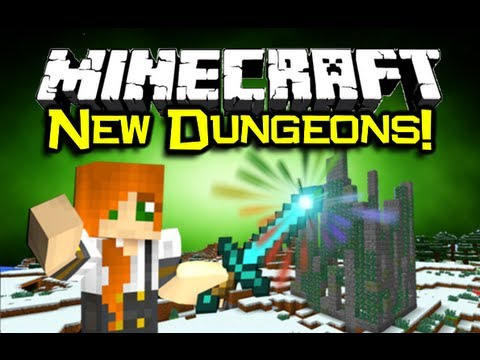 Minecraft - NEW DUNGEONS MOD Spotlight! - More Loot, More Mobs, More FUN! (Minecraft Mod Showcase)