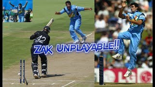Zaheer Khan Sensational First Over vs New Zealand 2003 | MAGICAL SWING...ABSOLUTELY UNPLAYABLE!!