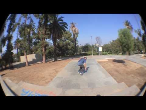 Few tricks with Corey & Kyle Blanchette at Hollenbeck Park