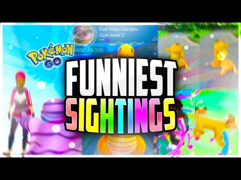 Pokemon Go - The TOP 10 FUNNIEST Pokemon Go Sightings! (FUNNY Pokestops + Pokemon Go Fails!)