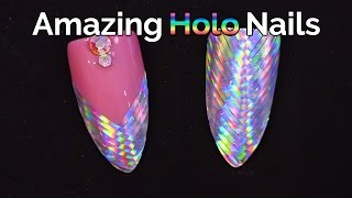 Amazing Holographic Nails - Fish Tail Plaited Design