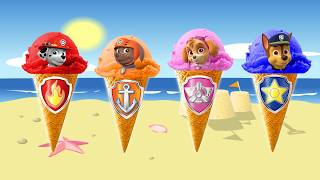 Paw Patrol Wrong Ice Cream Color  Learn the colors in English  with Wrong  Paw Patrol Ice Cream