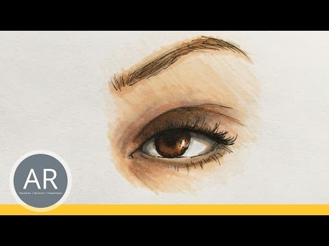 Augen zeichnen lernen. Kreative Technik mit Markern. Portrait zeichnen.