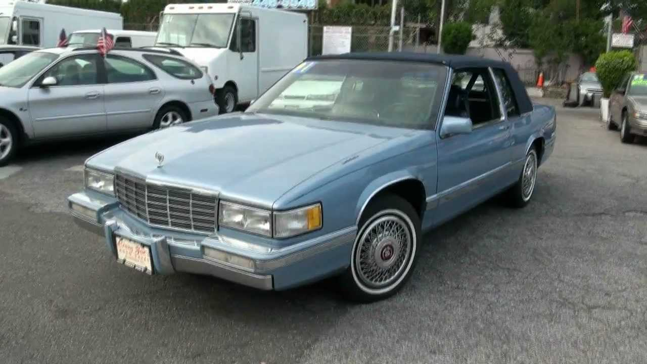 1991 Cadillac Coupe Deville Youtube