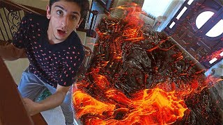 CRAZY FLOOR IS LAVA CHALLENGE IN THE NEW HOUSE!!