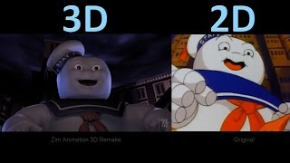 The Real Ghostbusters Intro - 3D Remake vs Original