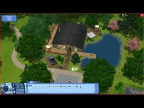 Sims 3 - Small Mountain & Lake Cabin Loft - Building A House [hd] video