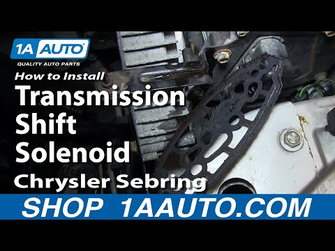 How To Install Replace Transmission Shift Solenoid 2001-06 Chrysler Sebring