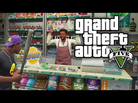 GTA 5 CHALLENGE - ROB 5 STORES WITHOUT KILLING! (GTA V Online)