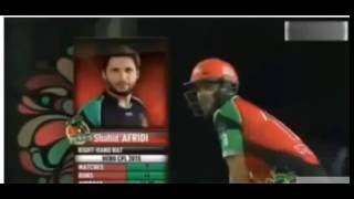 Shahid Afridi All Sixes In Cpl 2015