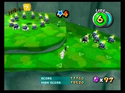 Super Mario Galaxy 2 - Fluffy Bluff Galaxy - The Chimp's Stomp Challenge 20,160 Points