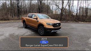 2019 Ford Ranger Lariat SuperCrew FX4 4X4|Walk Around Video|In Depth Review|Test Drive