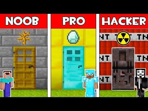 Minecraft - NOOB vs PRO vs HACKER : SECRET DOOR in Minecraft ! AVM SHORTS Animation