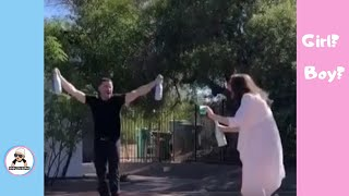 BEST UNIQUE BABY GENDER REVEAL COMPILATION PREGNANCY ANNOUNCEMENT REACTION revelacion genero bebe