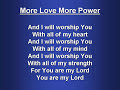 More Love More Power (worship [video]