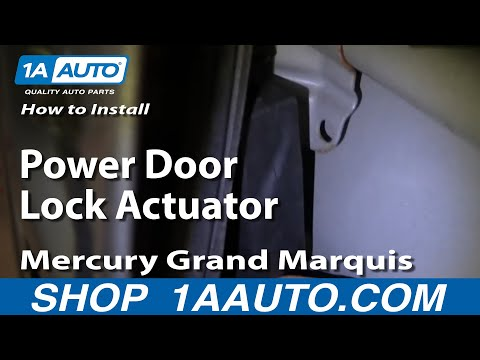 How To Install Replace Power Door Lock Actuator Mercury Grand Marquis 92-03 1AAuto.com