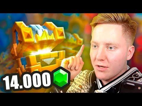 14 000 КРИСТАЛЛОВ НА СУНДУКИ !!! | Clash Royale