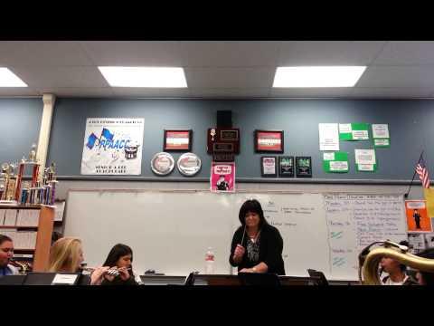 Dr. Janna Hall Conducting Rosamond High School