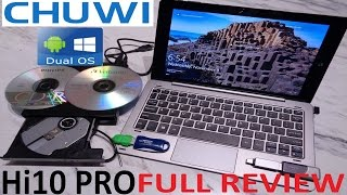 "FULL REVIEW CHUWI Hi10 Pro 10.1"" Tablet Windows 10 & Android 5.1.1 4GB/64GB Intel Cherry Trail Z8300"