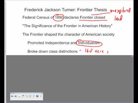 frontier thesis apush 100% free ap test prep website that offers study with the end of the frontier critics have pointed out that while turner's thesis addressed the.
